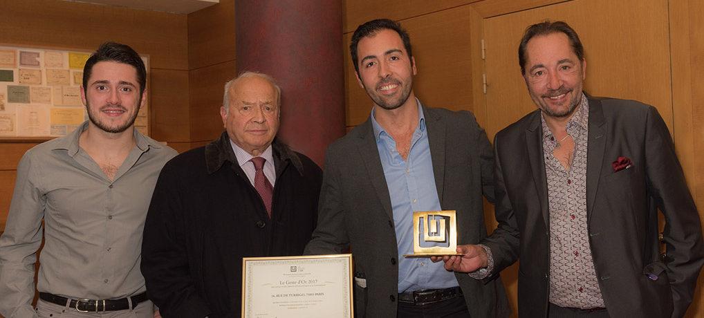 Carmine S.A. reçoit Le Geste d'Or